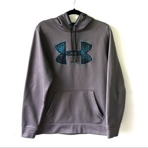 Men's Gray Under Armour Long Sleeve Pullover